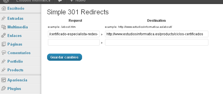 redirecciones301wordpress